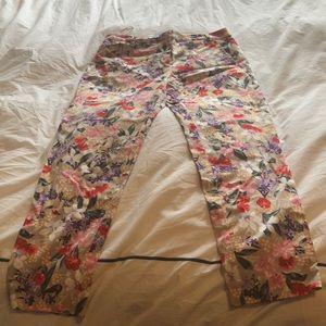 Oasis UK Crop flower pants